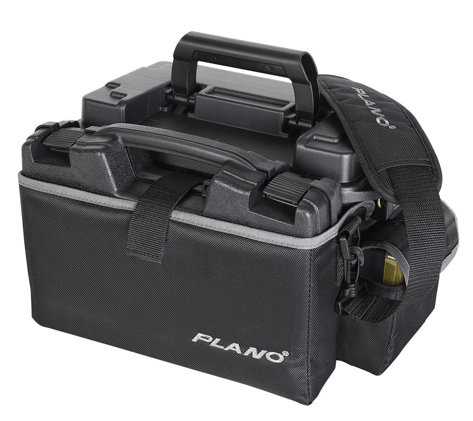 Plano Medium X2 Range Bag w 140300 Pistol Case and 1712 Ammo Can