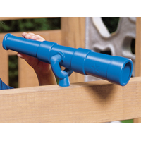 Playstar PS 7832 Discovery Telescope, 11-3/4 in D, Plastic, Blue