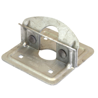 Playstar PS 1023 Commercial Grade Foot Plate, For Use With 1-5/8 in and 1-7/8 in Diameter Pipe and Stationary Docks