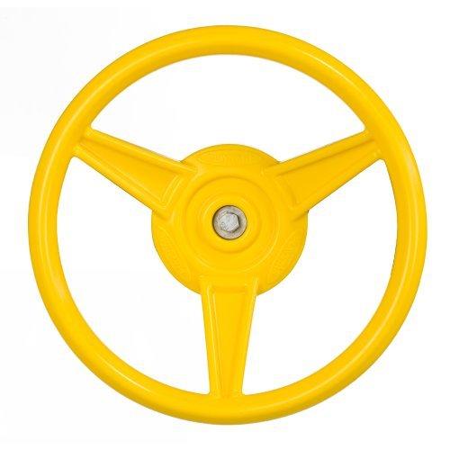 Playstar PS 7840 Steering Wheel, 12 in Diameter, HDPE Resin, Yellow