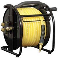Plews 545HR-RET Reel Air Hose, 3/8 in x 75 ft, MNPT, 200 psi, Polyurethane
