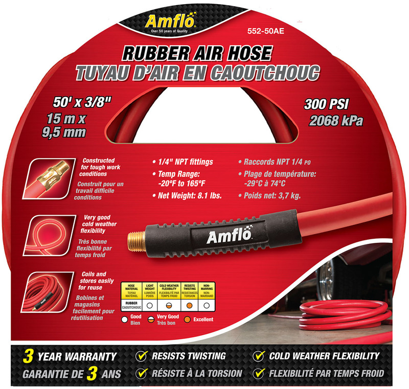 552-50AE 3/8X50 FT. RUBBER HOSE
