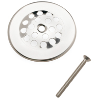 Plumb Pak PP826-64 Strainer Dome Cover With Screw, 3 in Dia, 1-1/2 in Screw Length, Chrome