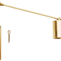 Plumb Pak PP606-22 Clevis Plunger Linkage Assembly, NO 10-32 Eye Bolt, For Use With Trip lever 6 in Eye Wire, Brass