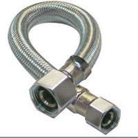 Plumb Pak PP23802-5 Faucet Supply Tube, 3/8 X 1/2 in, Compression X FIP, 16 in L, Stainless Steel