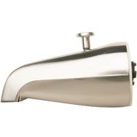 Plumb Pak PP825-31BN Bathtub Spout With Diverter, 3/4 in IPS, Brushed Nickel