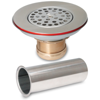 STRAINER SINK SS 1-1/2IN X 4IN