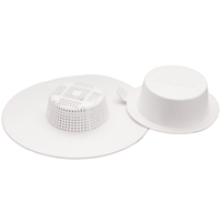 Plumb Pak PP820-17 Strainer Draine Guard, For Use With Sink, Tub and Shower, Plastic, White