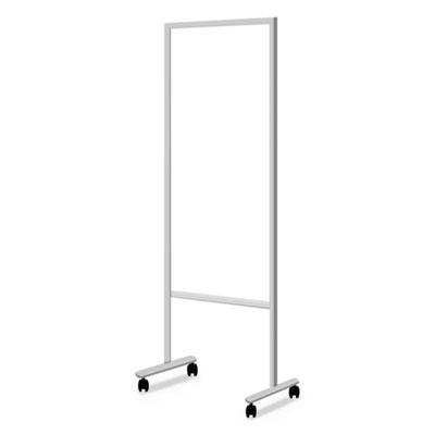 Information Board, 20.2w x 55.1h, White, Aluminum Frame