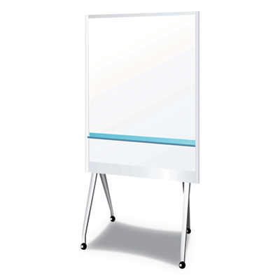 "Mobile Partition Board LG, 38 3/10"" x 70 4/5"", White, Aluminum Frame"