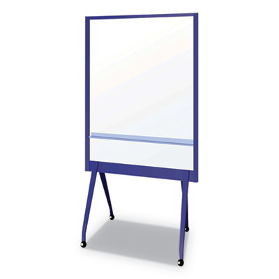 """Mobile Partition Board NB, 38 3/10"""" x 70 4/5"""", White, Aluminum Frame"""