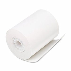 "Single Ply Thermal Cash Register/POS Rolls, 2 1/4"" x 80 ft., White, 50/CT"