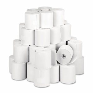 "Single Ply Thermal Cash Register/POS Rolls, 3 1/8"" x 273 ft., White, 50/CT"