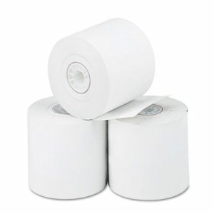 "Thermal Paper Rolls, Cash Register/Calculator, 2 1/4"" x 165 ft, White, 3/Pack"