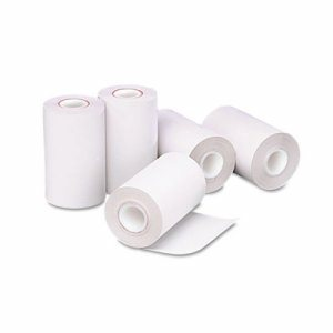 "Single Ply Thermal Cash Register/POS Rolls, 2 1/4"" x 55 ft., White, 5 Rolls/Pack"