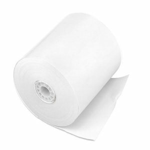 "Single Ply Cash Register/POS Rolls, 3"" x 150 ft., White, 50/Carton"