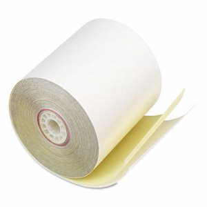 "Paper Rolls, Two Ply Receipt Rolls, 3"" x 90 ft, White/Canary , 50/Carton"