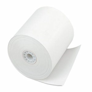 "Single Ply Thermal Cash Register/POS Rolls, 3"" x 225 ft., White, 24/CT"