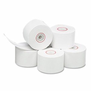 "Single Ply Thermal Cash Register/POS Rolls, 1 3/4"" x 150 ft., White, 10/Pk"