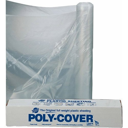 20 Ft. X 100 Ft. 6 Mil Polyethylene Clear Plastic Sheeting, Clear