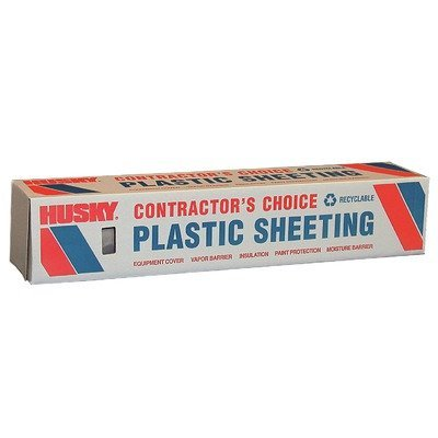 10Ft. x 100Ft. 4 Mil Polyethylene Clear Plastic Sheeting, Clear