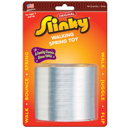 Original Metal Slinky on Blister Card