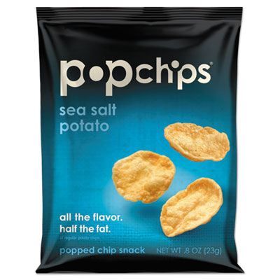 Potato Chips, Sea Salt Flavor, .8 oz Bag, 24/Carton