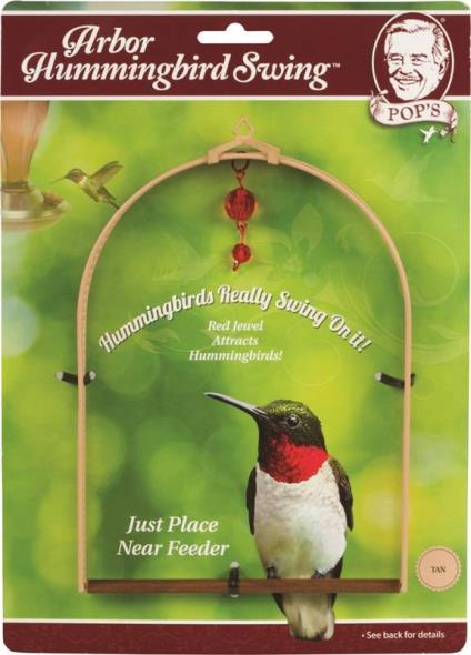 Pops Burding ARBSWING-BR Arbor Hummingbird Swing, Brown