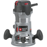 Porter-Cable 892 Round Base Corded Router Kit, 120 VAC, 12 A, 2-1/4 hp, 10000 - 23000 rpm