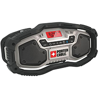 Porter-Cable PCC771B Jobsite Radio, 6 FM, 6 AM Channel, Digital Display