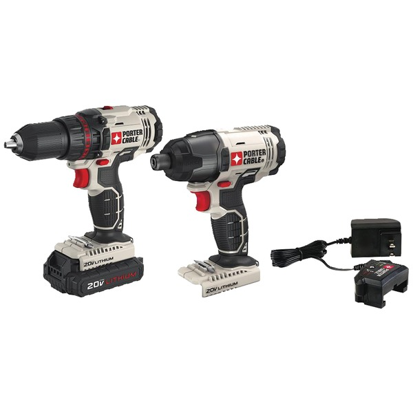 PORTER-CABLE PCCK604LA 20-Volt MAX* Cordless 2-Tool Combo Kit with Battery