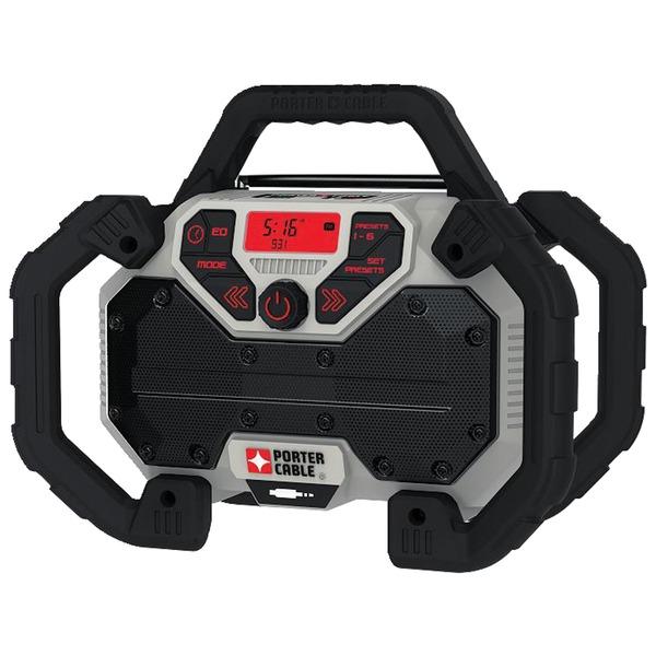 PORTER-CABLE PCCR701B 20-Volt MAX* Dual-Power Jobsite Charging Radio