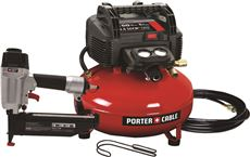 PORTER CABLE� FINISH NAILER AND COMPRESSOR COMBO KIT