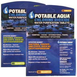 Potable Aqua Chlorine Dioxide Tablets, 30 Pa