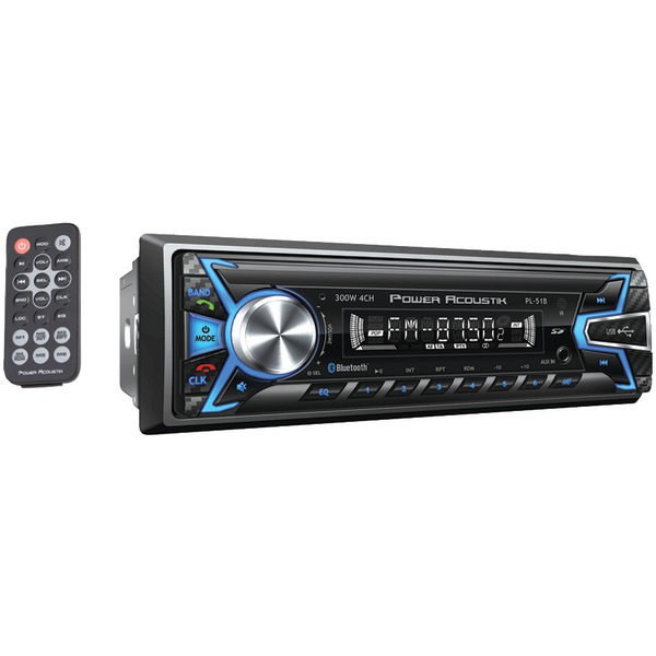 Power Acoustik PL-51B Single-DIN In-Dash Digital Audio Receiver (Bluetooth, Detachable Face)