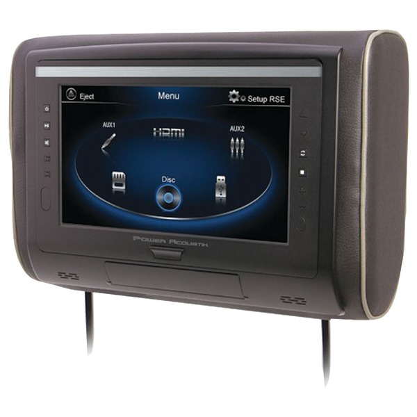 "Power Acoustik H-94 9"" LCD Universal Headrest with IR & FM Transmitters & 3 Interchangeable Skins (Monitor only)"