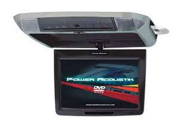 """POWER ACOUSTIK PMD-112CMX 11.2"""" Widescreen Ceiling-Mount Monitor with DVD Player, IR Transmitter & Interchangeable Skins"""