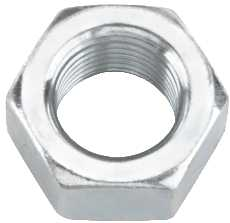 "ZINC HEX NUT, 1/2""-13, 50 PER PACK"