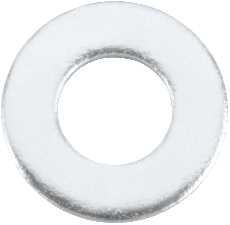 """ZINC FLAT WASHER, 1/2"""", 100 PER PACK"""