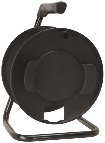 Power Zone ORCR3000 Handle Driven Cord Storage Reel With Metal Stand, 100 ft, Black