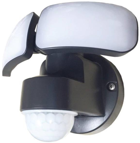 LIGHT LED SECURTIY 2200L BLK