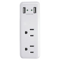 CHARGER USB 2-PORT2.4A 2OUTLET