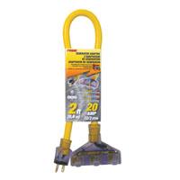 ADAPTER T-SLOT W/LT 12/3GA 2FT