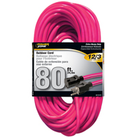 Powerzone ORN513833 SJTW Extension Cord, 12/3, 80 ft