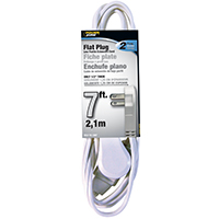 CORD EXT INDR 3OUT16/2X7FT WHT