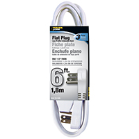 CORD EXT INDR 3OUT16/3X6FT WHT