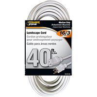 CORD EXT OUTDOOR 16/3X40FT WHT