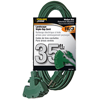 CORD EXT 3TAP16/3SJTWX35FT GRN