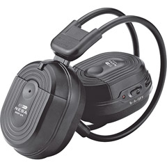 HEADPHONES SWIVEL EARPAD 2 CH.RF 900 MHZ; POWER ACOUSTIK