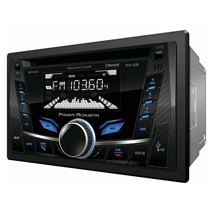 Power Acoustik AM/FM/CD/USB/BT Detachable Face